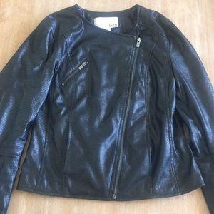 Bar III black motto jacket.